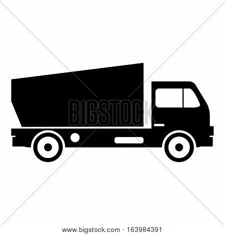 Lorry icon. Simple illustration of lorry vector icon for web