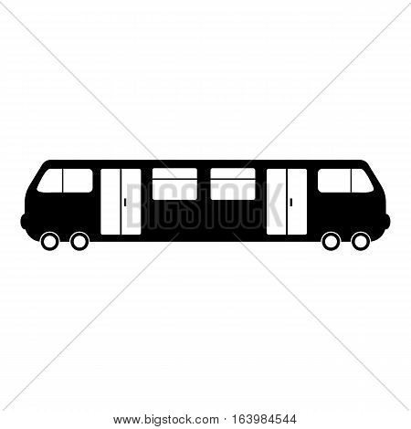 Train icon. Simple illustration of train vector icon for web
