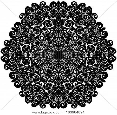 doily pattern background with isolation on a white background