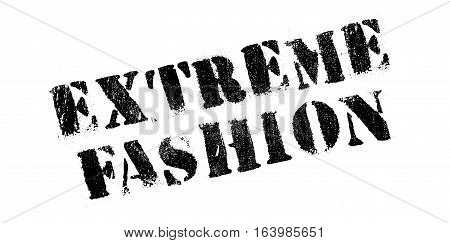 Extreme Fashion rubber stamp. Grunge design with dust scratches. Effects can be easily removed for a clean, crisp look. Color is easily changed.