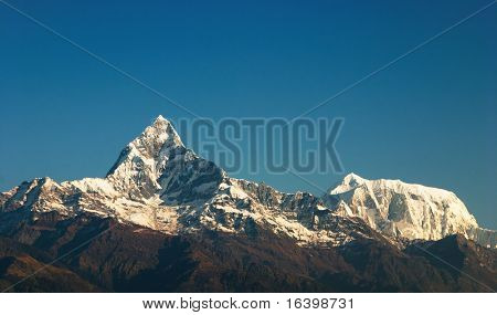 Machhapuchhre mountain in Nepal (Fishtail) poster