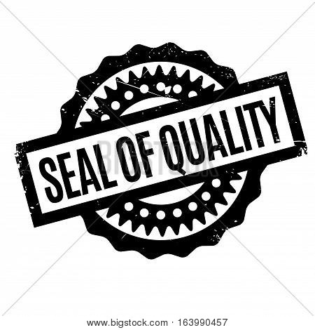Seal Of Quality rubber stamp. Grunge design with dust scratches. Effects can be easily removed for a clean, crisp look. Color is easily changed.