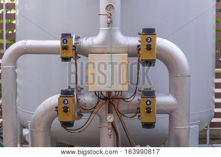 Pipes And Faucet Valves Of Gas Heating System