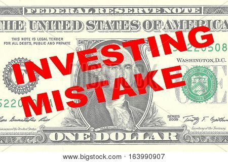 Investing Mistake Concept