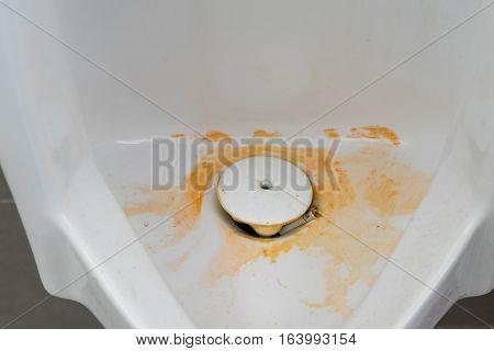 Closeup Dirty Urinal