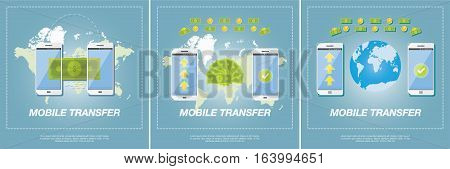 Money Transfer Vector Concept.