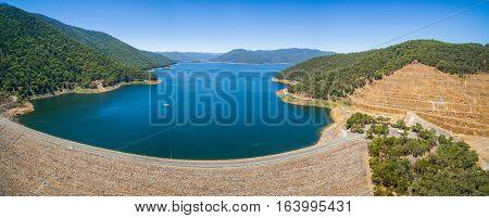 Aerial Panorama Of Dartmouth Dam, Australia