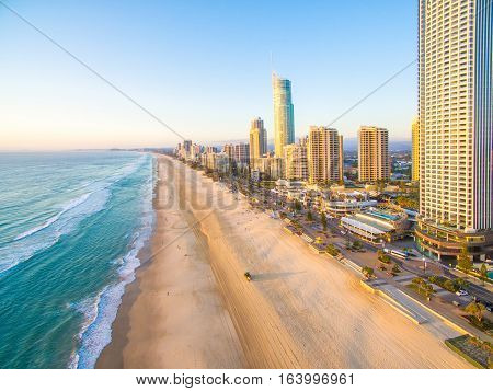 Early morning light at Surfers Paradise on the Gold Coast