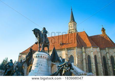 St. Michael's Church. Cluj-napoca. Romania.