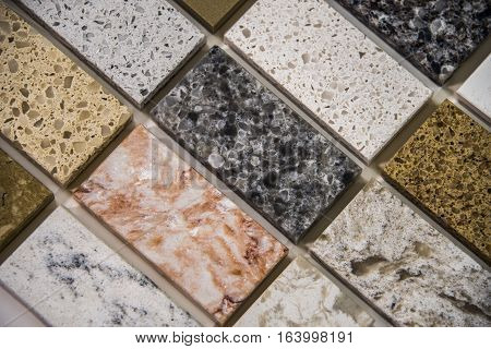 Close up of a counters material, for your kitchen counter or your bath counter with interesting home counter design for your home.