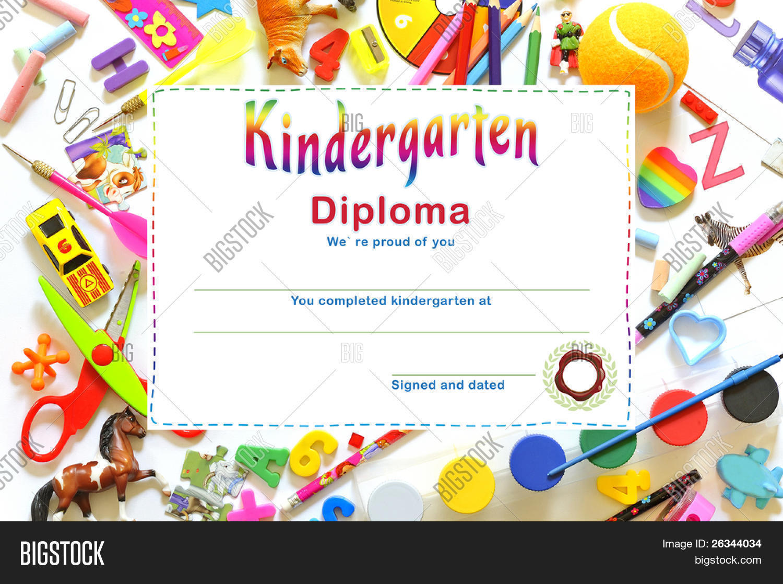 kindergarten diploma image photo free trial bigstock