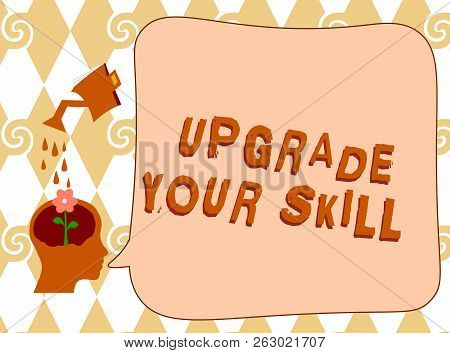 Handwriting text writing Upgrade Your Skill. Concept meaning Expand Scope of Knowledge Optimize Skills Craft poster