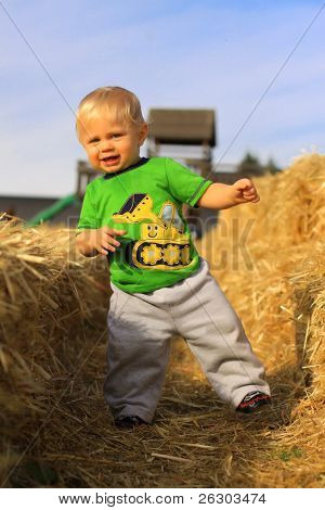 Young Boy With Straw