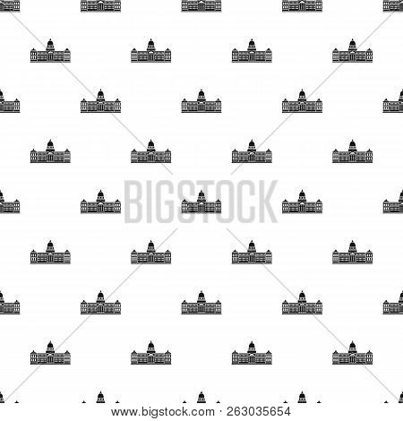 Palace Of Congress In Buenos Aires, Argentina Pattern Seamless In Simple Style Illustration