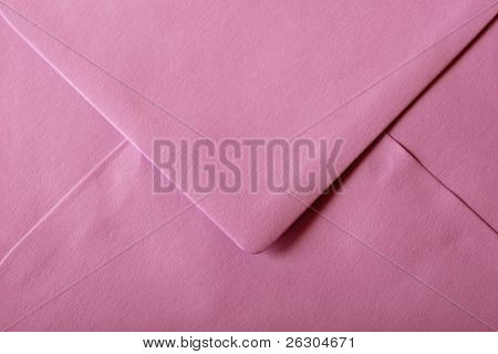 pink envelope with textured paper