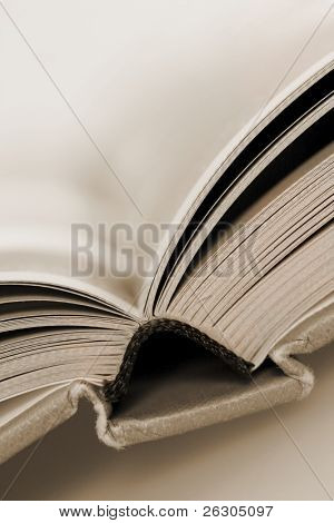 old book, shallow depth of field