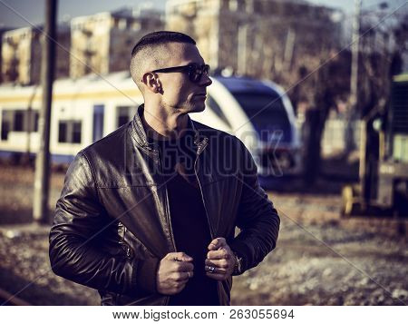 One Handsome Young Man In City Setting