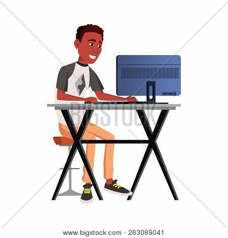 Office Worker Vector. Emotions. Lifestyle. Black. African. Busin