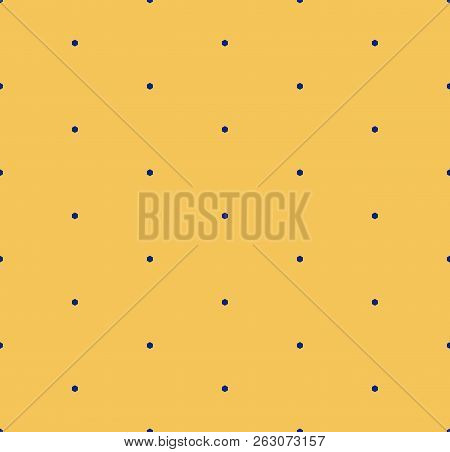 Vector Minimalist Geometric Seamless Pattern With Tiny Hexagons, Dots. Bright Colorful Funky Style T