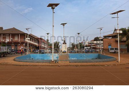 Bissau, Republic Of Guinea-bissau - February 5, 2018: View Of The Amilcar Cabral Avenue, In Guinea-b