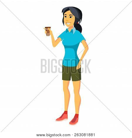 Office Worker Vector. Woman. Professional Officer, Clerk. Busine