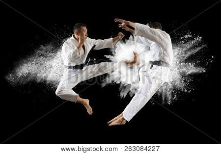 Fighter practising his art.  Martial arts masters