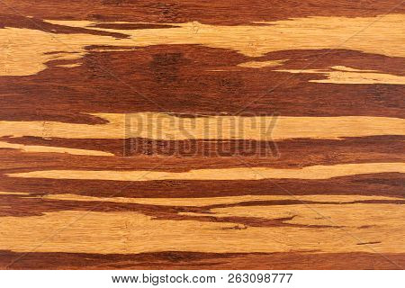 Close Up Textured Cutting Board. Detail Of New Wooden Cutting Board. Kitchen Wooden Board Structure.