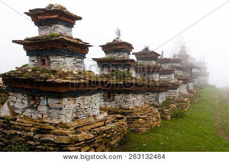 Old Traditional Gompa Buddhist Structures In Nar Village, Annapurna Conservation Area, Nepal