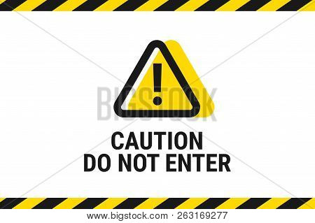 Do Not Enter. Road Sign Icon. Vector Illustration
