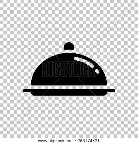 Restaurant Cloche Or Tray. Restaurant Icon. On Transparent Backg