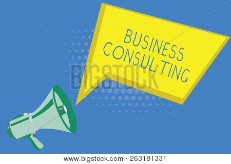 Handwriting Text Writing Business Consulting. Concept Meaning Blends Practice Of Academic Theoretica