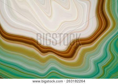 Marble Ink Colorful. Green Marble Pattern Texture Abstract Background. Can Be Used For Background Or