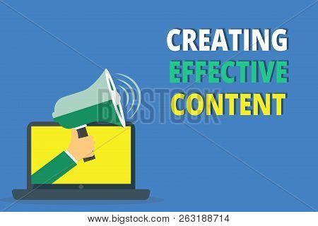 Handwriting Text Writing Creating Effective Content. Concept Meaning Valuable Information Informativ