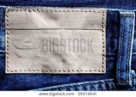Jeans Hintergrund mit blank label
