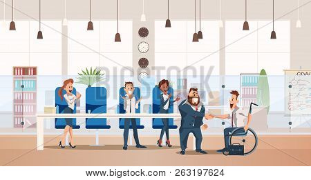 Job Interview And Recruiting Concept. Human Resources In Office. Teamwork During Interview. People W