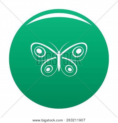 Tiny Butterfly Icon. Simple Illustration Of Tiny Butterfly Icon For Any Design Green