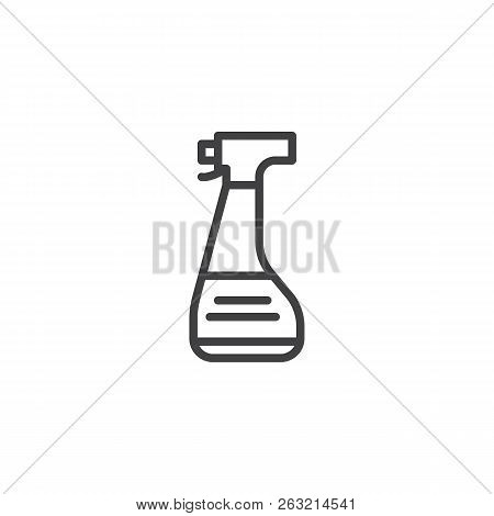 Spray Bottle Outline Icon. Linear Style Sign For Mobile Concept And Web Design. Forensics Equipment