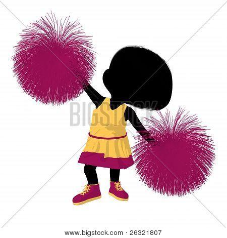 Little Cheer Girl Illustration Silhouette