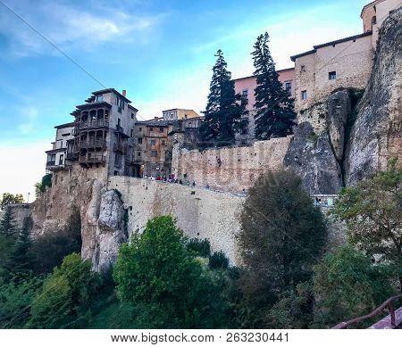 The Hanging  Cuenca Houses Taken From Below