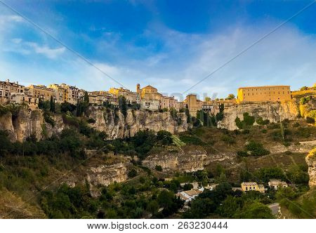 Photo Of The Old Town Of Cuenca Taken From Below