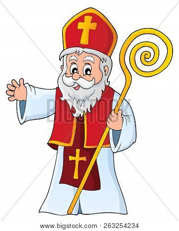 Saint Nicholas Topic Image 1 - Eps10 Vector Picture Illustration.