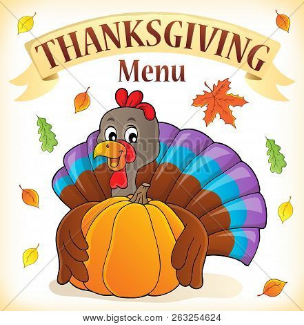 Thanksgiving Menu Topic Image 3 - Eps10 Vector Picture Illustration.