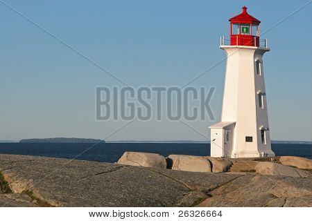 Peggy's Cove Lighthouse, on the shores of Nova Scotia, Canada. poster