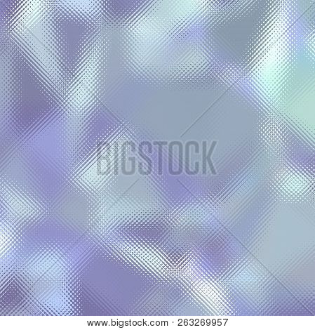 Blue And Grey Through Tiny Glass In Square Shape Background Illustration