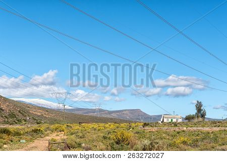Ceres, South Africa, August 8, 2018: Farm Landscape At Karoopoort  On Road R355 In The Western Cape