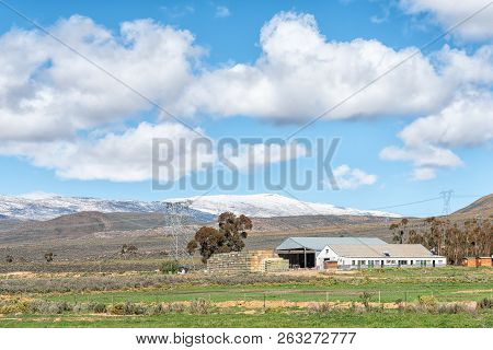 Ceres, South Africa, August 8, 2018: Farm Landscape On Road R46 Near Ceres In The Western Cape Provi