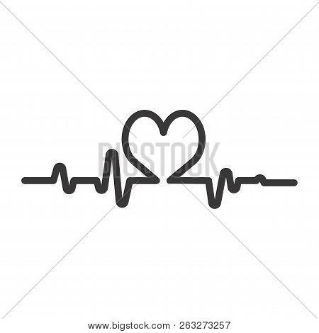 Heartbeat Icon,cardiogram Icon,pulse Icon Isolated On White Background,rhythm Icon