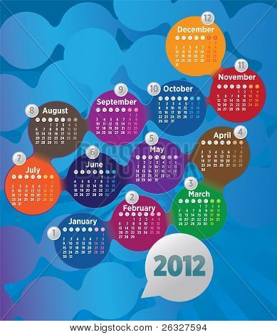 Prepared for the calendar year 2012, and the colors