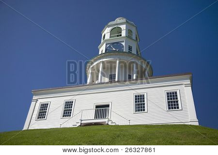 The historic town clock at the Halifax Citadel in Halifax, Nova Scotia.