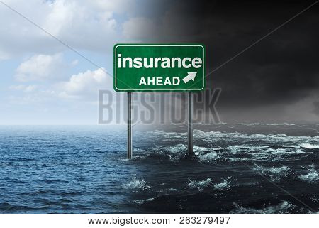 Insurance Concept And Hurricane Or Storm Property Damage Financial Risk Idea And Homeowners Insured